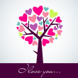 Abstract heart tree — Stockfoto