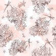 Seamless vintage floral pattern - Stock Photo