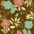Royalty-Free Stock Photo: Seamless vintage flower pattern, floral vector