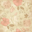 Seamless vintage flower pattern — Stock Photo
