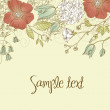 Cute floral greeting card - Stock Photo