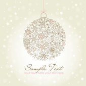 Beautiful Christmas ball illustration. — Stock Photo
