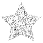 Beautiful Christmas Star illustration. Christmas Card — Stock Photo