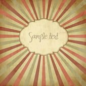 Vintage template, colored sun burst background. — Stock Photo