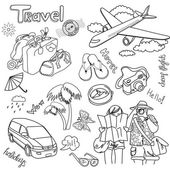 Travel doodles. Vector illustration. — Stock Photo