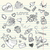 LOVE doodles — Stock fotografie