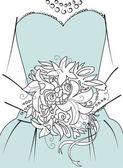 Sfondo di matrimonio. damigella d'onore con bouquet — Foto Stock