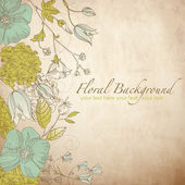 Hübsch floral grußkarte — Stockfoto