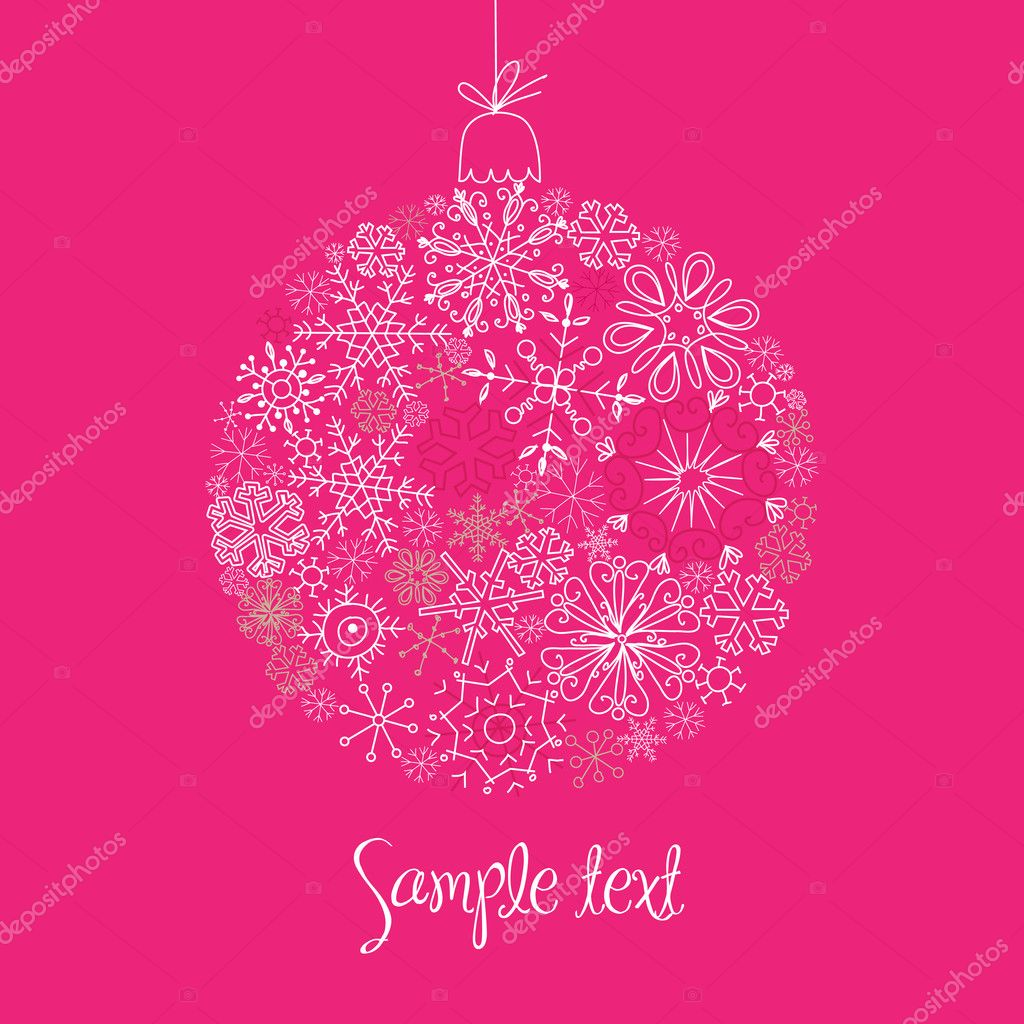 Christmas decorative ball made of snowflakes — Stock Photo #7549371