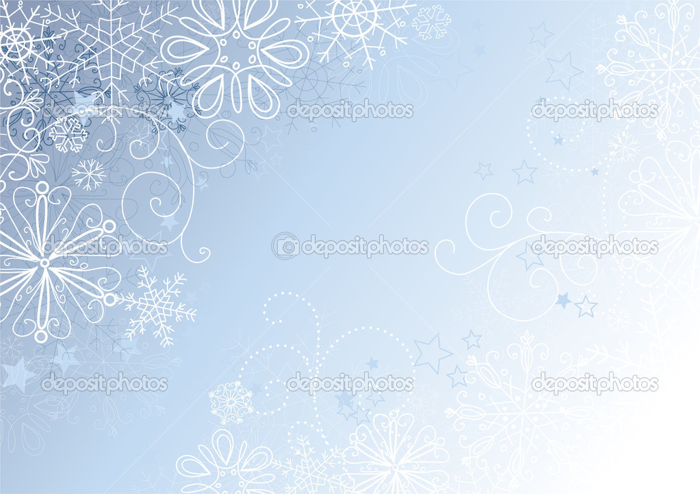 Silver and Blue christmas background with snowflakes, vector illustration — Stock Photo #7549386