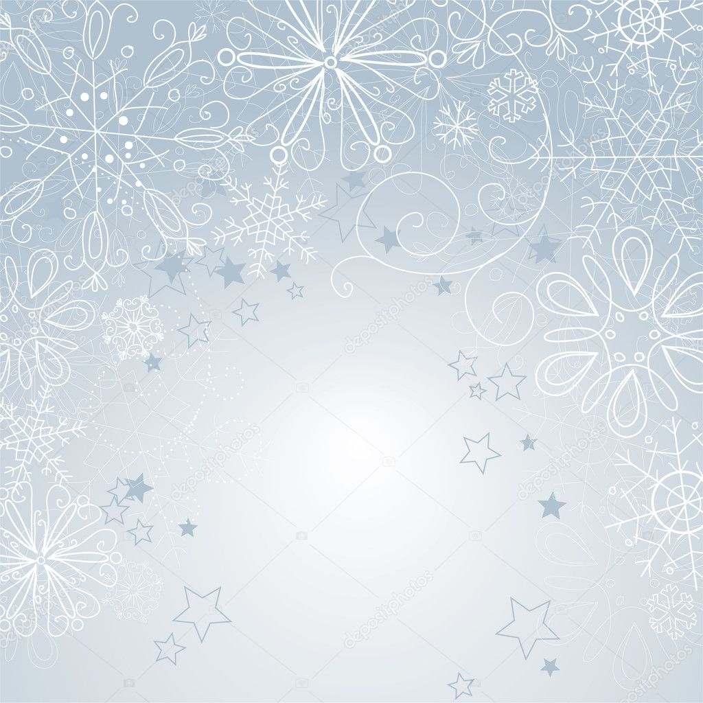 Silver christmas background  Foto Stock #7549393