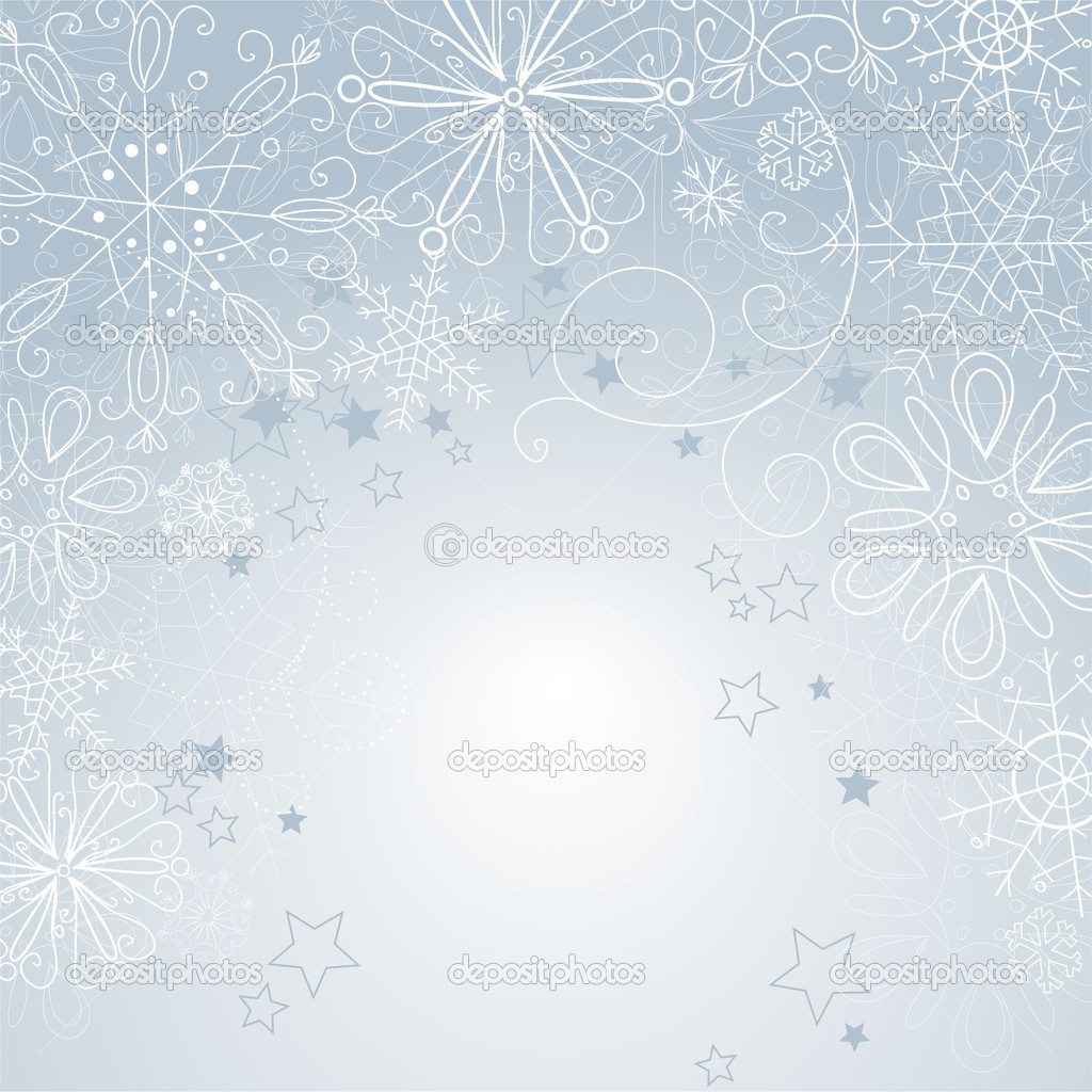 Silver christmas background — Stock fotografie #7549393