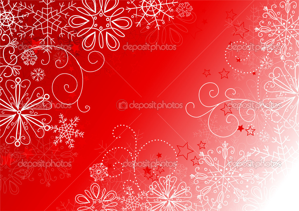Abstract background with snowflakes. Vector — Stock Photo #7549394