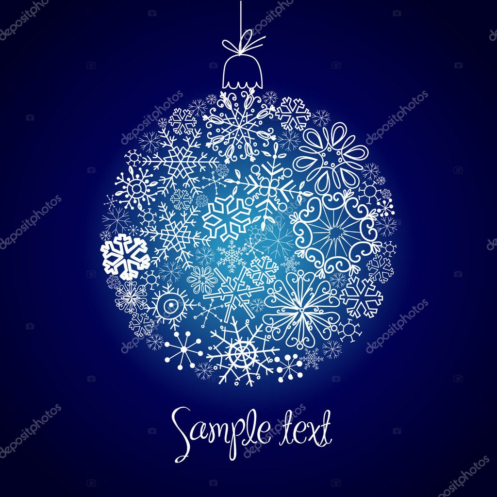 Christmas ball illustration. — Stock Photo #7549404