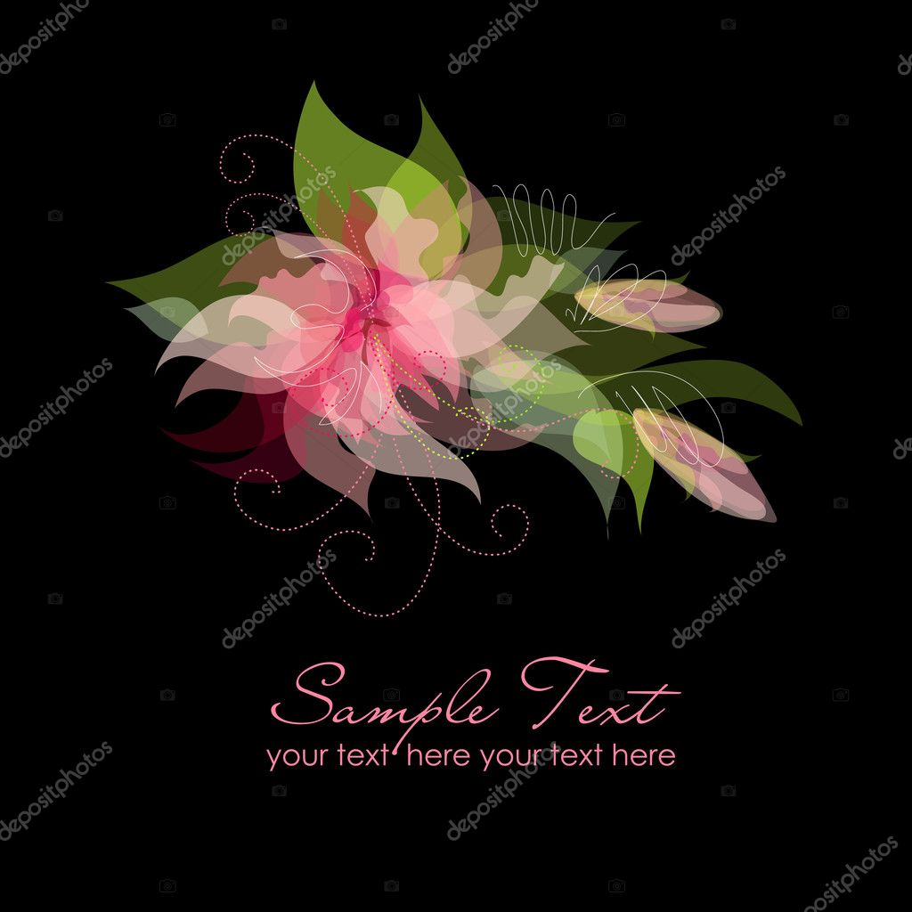 Pink Flowers on Black Background — Stock Photo #7549778