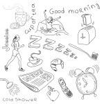 Monday morning doodles — Stock Photo