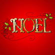 Stock Photo: Vintage Christmas Card. NOEL lettering