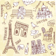 Paris doodles - Foto Stock
