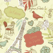 Love in Paris. Seamless pattern — Foto Stock