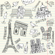Love in paris doodles — Lizenzfreies Foto