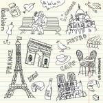 Love in paris doodles — Stock Photo #7550190