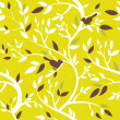 Royalty-Free Stock Photo: Autumn seamless pattern with leaves and birds