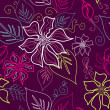 Seamless Aloha Pattern - Stock Photo