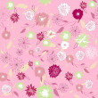 Vector retro floral seamless pattern — Stock Photo