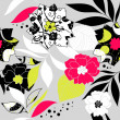 Stock Photo: Retro floral seamless background