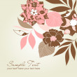 Retro floral background — Foto Stock