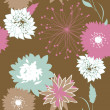 Retro floral seamless background — Stock Photo