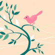Stock Photo: Cute bird on a tree branch.