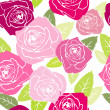 Stock Photo: Roses. Seamless vector pattern