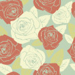 Valentine seamless pattern with rose design — Stock Photo