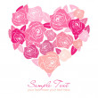 Valentine rose heart — ストック写真