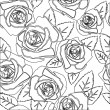 Floral Rose seamless pattern — Stock Photo