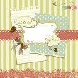 Cute scrapbook elements - Stock Photo