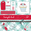 Stock Photo: Scrapbooking elements
