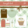 Stock Photo: Vintage scrap-booking elements