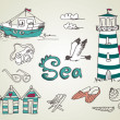 Stock Photo: Summer Holidays Doodles! Vector illustration.