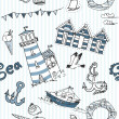 Sea seamless pattern — Foto de Stock