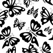 Stock Photo: Butterfly seamless pattern