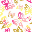 Butterfly seamless pattern - Stock Photo