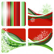 Christmas background with snowflakes, vector illustration — Stock Photo