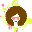 Afro woman - Stock Photo