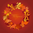 Stock Photo: Autumn Wreath