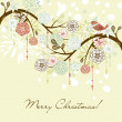 Floral Winter background. — Stock Photo