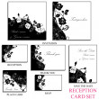 Stock Photo: Reception card set