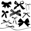 Bows and Ribbons isolated on white background — Foto de Stock