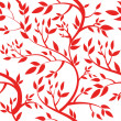 Seamless wallpaper - red leaves — Stock Photo